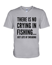 FISHING CRYING V-Neck T-Shirt thumbnail