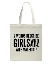 FISHING WIFE MATERIAL Tote Bag thumbnail