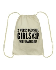 FISHING WIFE MATERIAL Drawstring Bag thumbnail