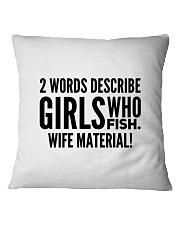 FISHING WIFE MATERIAL Square Pillowcase thumbnail