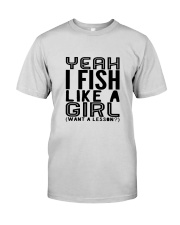 FISHING LIKE  A GIRL LESSON Premium Fit Mens Tee thumbnail