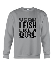 FISHING LIKE  A GIRL LESSON Crewneck Sweatshirt thumbnail
