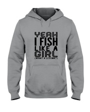 FISHING LIKE  A GIRL LESSON Hooded Sweatshirt thumbnail