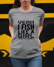 FISHING LIKE  A GIRL LESSON Ladies T-Shirt apparel-ladies-t-shirt-lifestyle-04