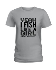 FISHING LIKE  A GIRL LESSON Ladies T-Shirt front