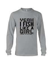 FISHING LIKE  A GIRL LESSON Long Sleeve Tee thumbnail
