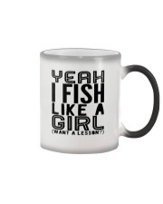 FISHING LIKE  A GIRL LESSON Color Changing Mug thumbnail