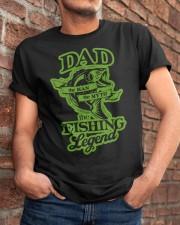 DAD FISHING LEGEND  Classic T-Shirt apparel-classic-tshirt-lifestyle-26