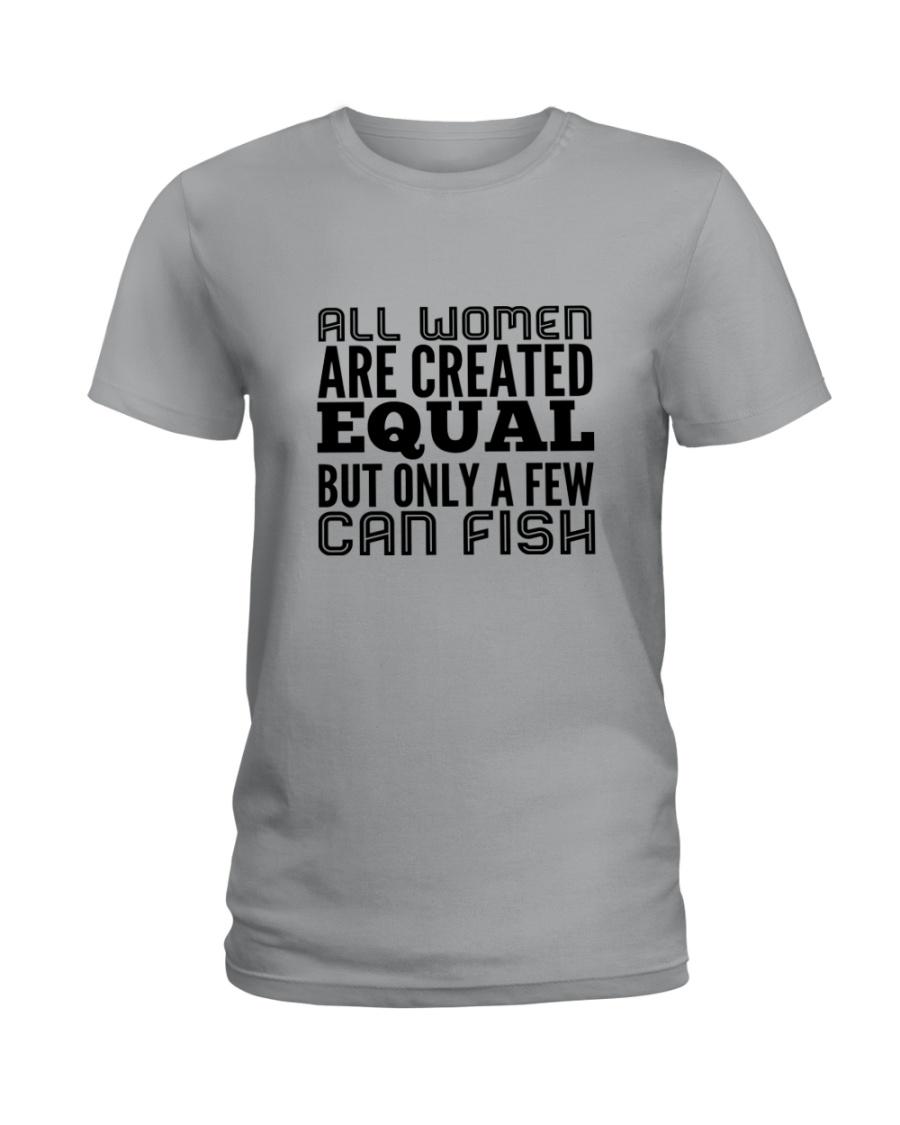 FISHING WOMEN EQUAL Ladies T-Shirt