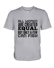FISHING WOMEN EQUAL V-Neck T-Shirt thumbnail