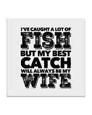 FISHING WOMEN EQUAL Square Coaster thumbnail