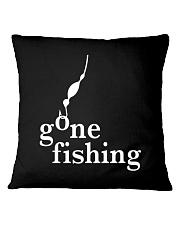 GONE FISHING Square Pillowcase thumbnail