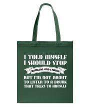 I SHOULD STOP DRINKING AND FISHING Tote Bag thumbnail