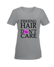 FISHING HAIR Ladies T-Shirt women-premium-crewneck-shirt-front
