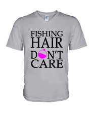 FISHING HAIR V-Neck T-Shirt thumbnail