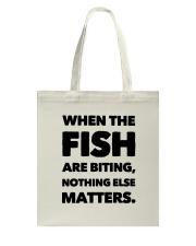 FISH BITING Tote Bag thumbnail