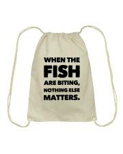 FISH BITING Drawstring Bag thumbnail