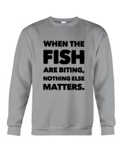 FISH BITING Crewneck Sweatshirt thumbnail