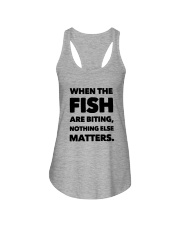 FISH BITING Ladies Flowy Tank thumbnail