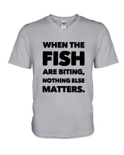 FISH BITING V-Neck T-Shirt thumbnail