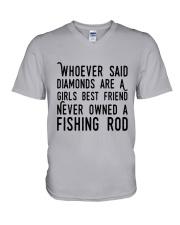 FISHING ROD V-Neck T-Shirt thumbnail