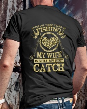 MY WIFE MY BEST CATCH Classic T-Shirt lifestyle-mens-crewneck-back-2
