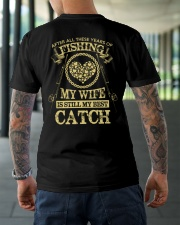 MY WIFE MY BEST CATCH Classic T-Shirt lifestyle-mens-crewneck-back-3