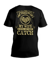 MY WIFE MY BEST CATCH V-Neck T-Shirt thumbnail
