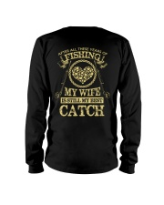 MY WIFE MY BEST CATCH Long Sleeve Tee tile