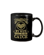 MY WIFE MY BEST CATCH Mug thumbnail