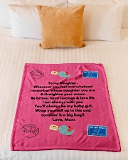 """TO MY DAUGHTER LOVE MOM Small Fleece Blanket - 30"""" x 40"""" aos-coral-fleece-blanket-30x40-lifestyle-front-04"""
