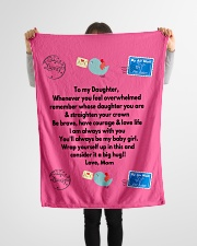 """TO MY DAUGHTER LOVE MOM Small Fleece Blanket - 30"""" x 40"""" aos-coral-fleece-blanket-30x40-lifestyle-front-14"""