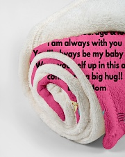 """TO MY DAUGHTER LOVE MOM Small Fleece Blanket - 30"""" x 40"""" aos-coral-fleece-blanket-30x40-lifestyle-front-18"""