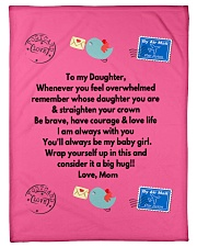 """TO MY DAUGHTER LOVE MOM Small Fleece Blanket - 30"""" x 40"""" front"""