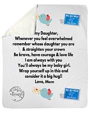 "TO MY DAUGHTER LOVE MOM Sherpa Fleece Blanket - 50"" x 60"" thumbnail"