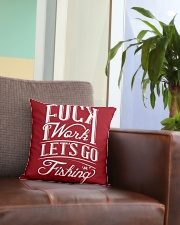 FCK WORK Square Pillowcase aos-pillow-square-front-lifestyle-03