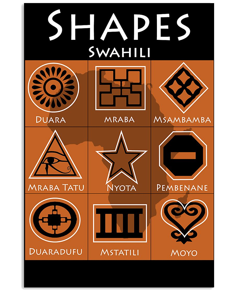 Shapes in Swahili 11x17 Poster