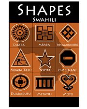 Shapes in Swahili 11x17 Poster front