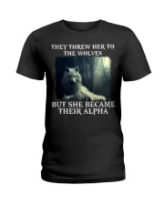 BE A WOLF Ladies T-Shirt front