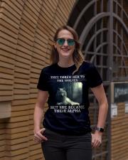 BE A WOLF Ladies T-Shirt lifestyle-women-crewneck-front-2