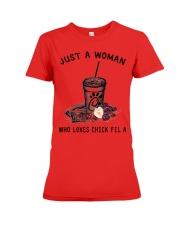JUST A WOMAN Premium Fit Ladies Tee thumbnail
