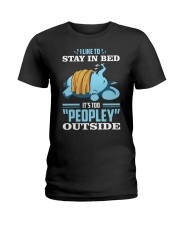 LIKE TO STAY IN BED Ladies T-Shirt tile