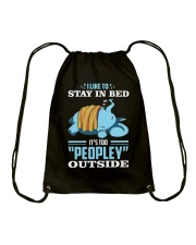 LIKE TO STAY IN BED Drawstring Bag thumbnail