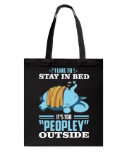 LIKE TO STAY IN BED Tote Bag tile