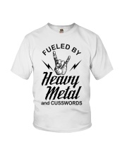 Fueled by heavy metal and cusswords Youth T-Shirt tile