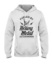 Fueled by heavy metal and cusswords Hooded Sweatshirt thumbnail