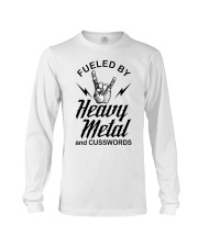 Fueled by heavy metal and cusswords Long Sleeve Tee thumbnail