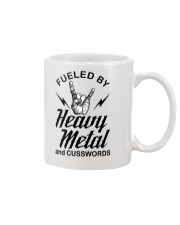 Fueled by heavy metal and cusswords Mug tile