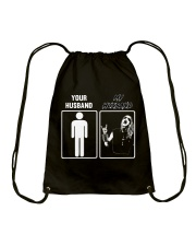 MY HUSBAND - YOUR HUSBAND Drawstring Bag thumbnail