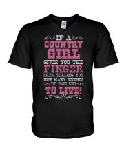 COUNTRY GIRL V-Neck T-Shirt thumbnail